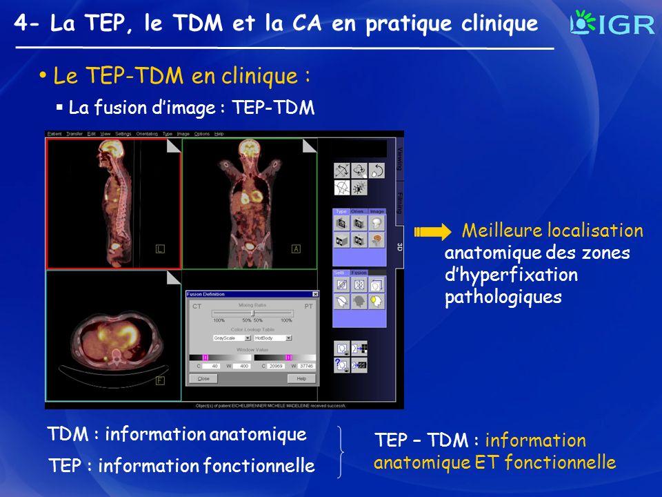 Le TEP-TDM en clinique :
