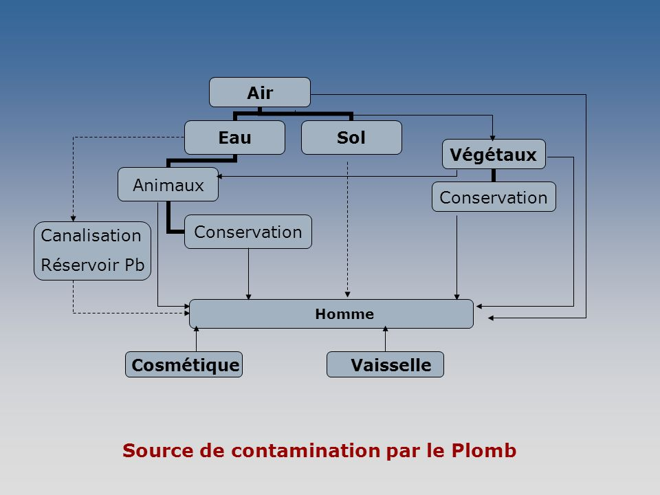 Source de contamination par le Plomb