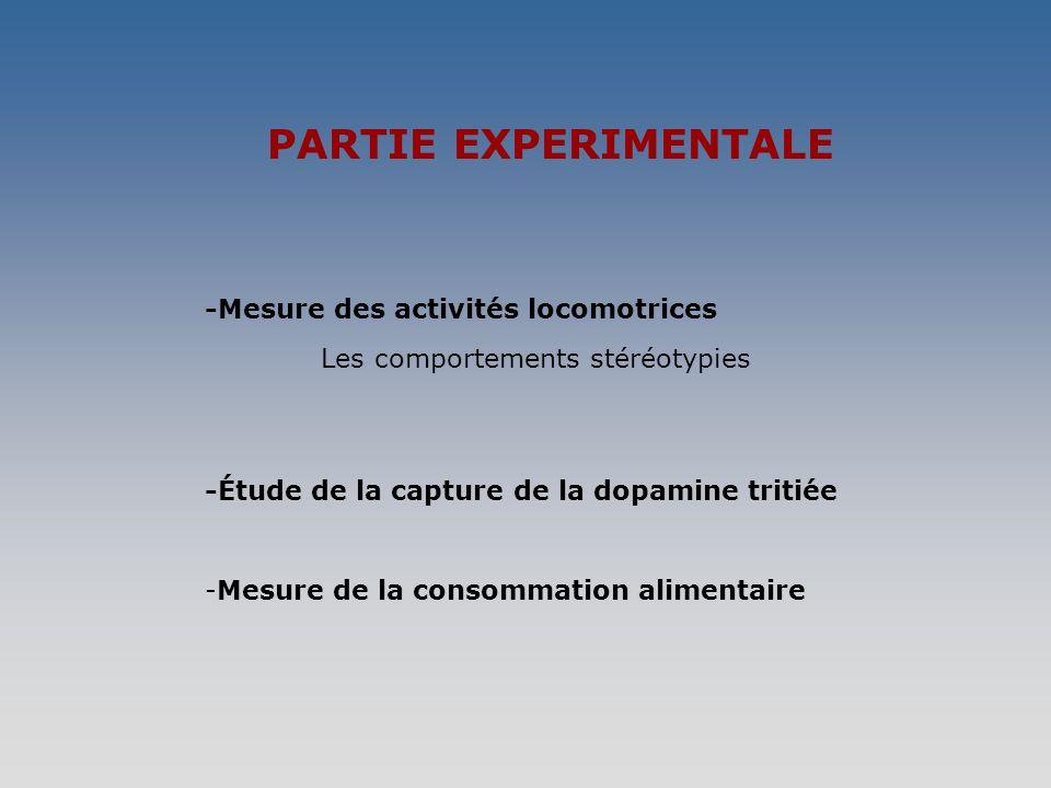 PARTIE EXPERIMENTALE -Mesure des activités locomotrices