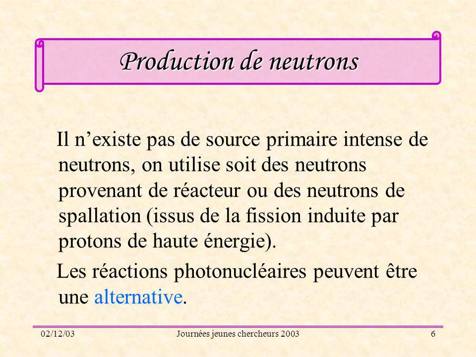 Production de neutrons