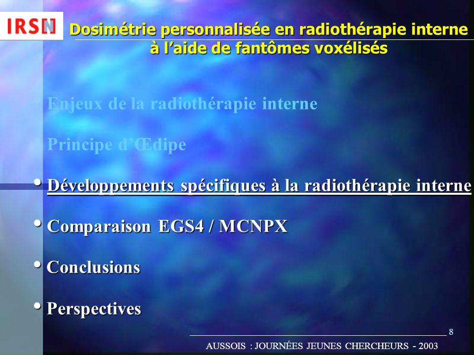 Enjeux de la radiothérapie interne Principe d'Œdipe