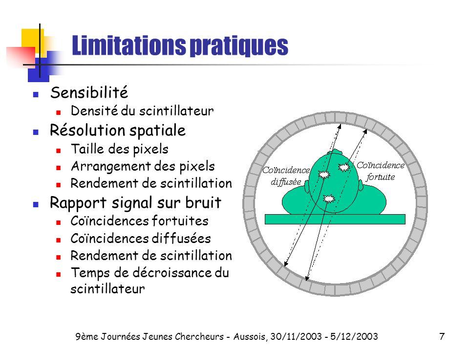 Limitations pratiques
