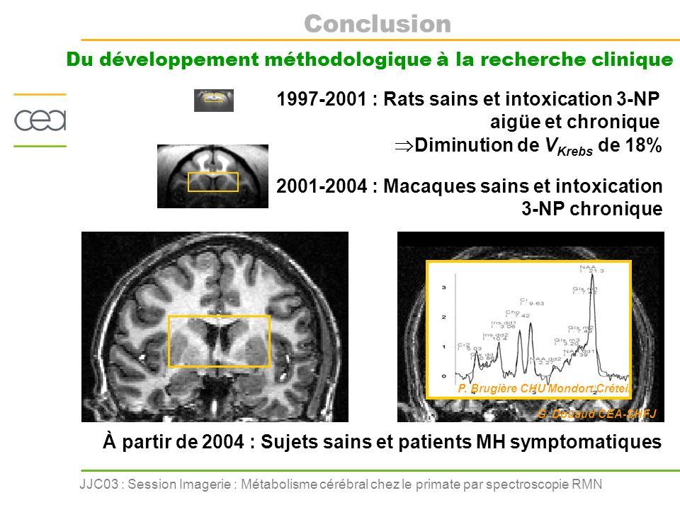 À partir de 2004 : Sujets sains et patients MH symptomatiques