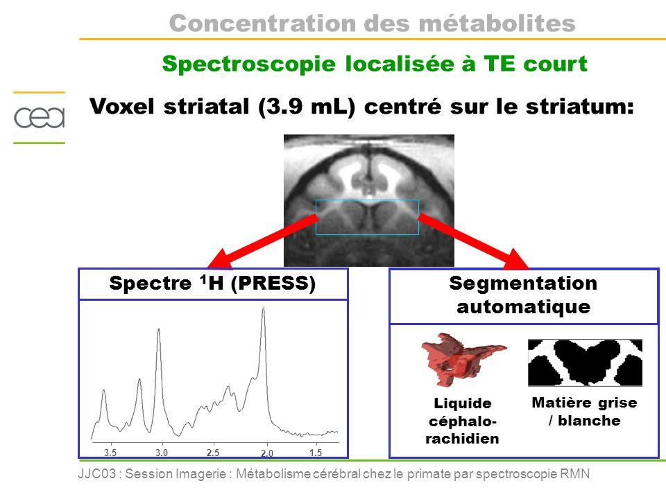 Concentration des métabolites