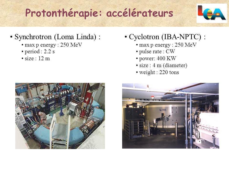 Protonthérapie: accélérateurs