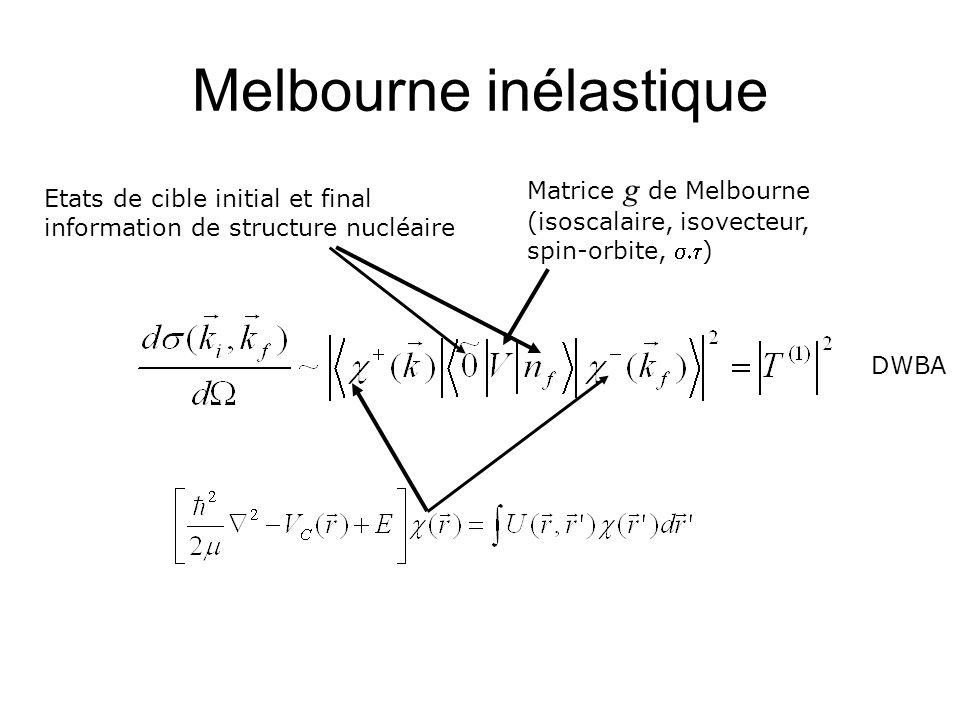 Melbourne inélastique