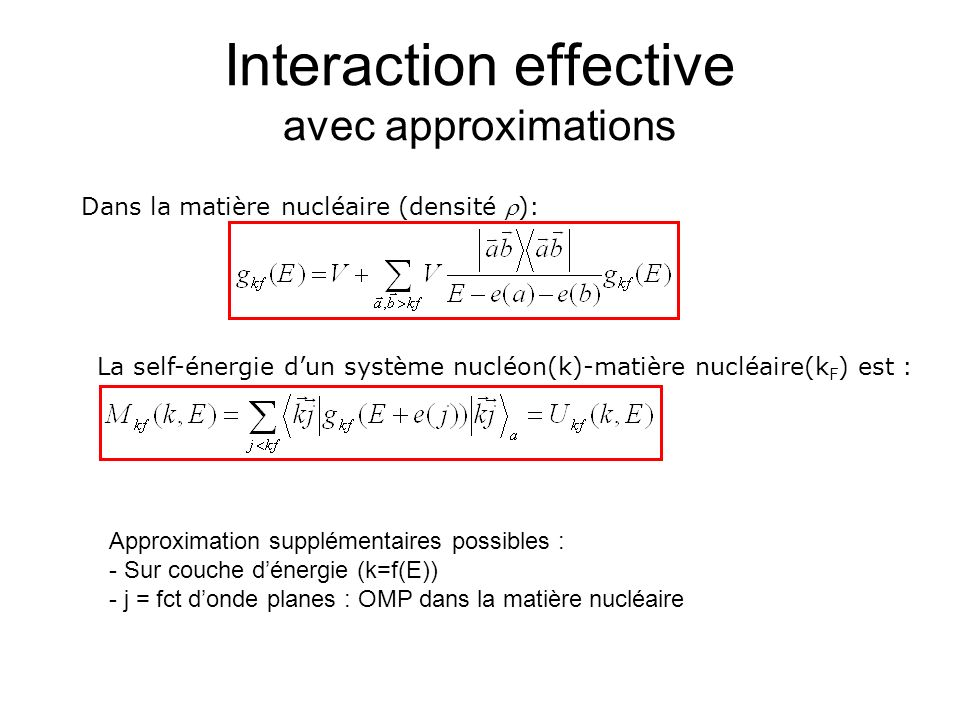 Interaction effective avec approximations