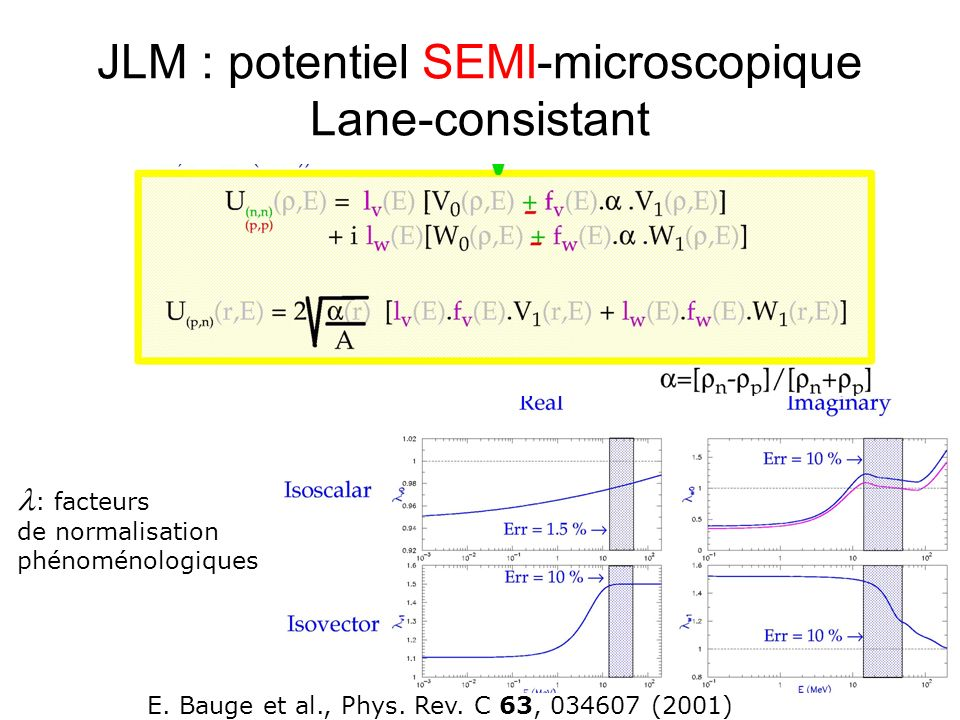 JLM : potentiel SEMI-microscopique Lane-consistant