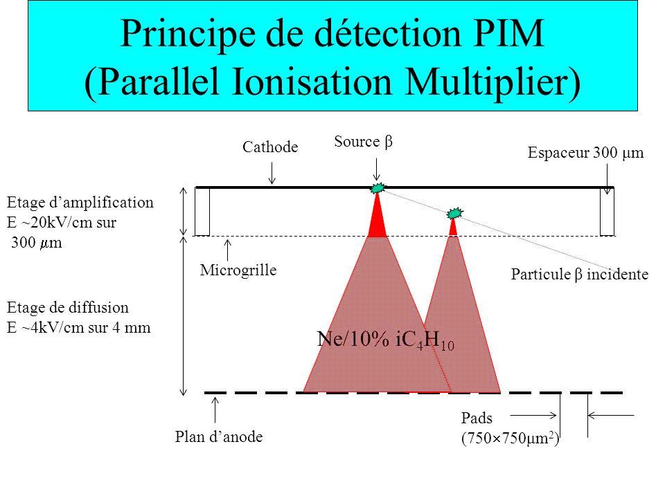 Principe de détection PIM (Parallel Ionisation Multiplier)