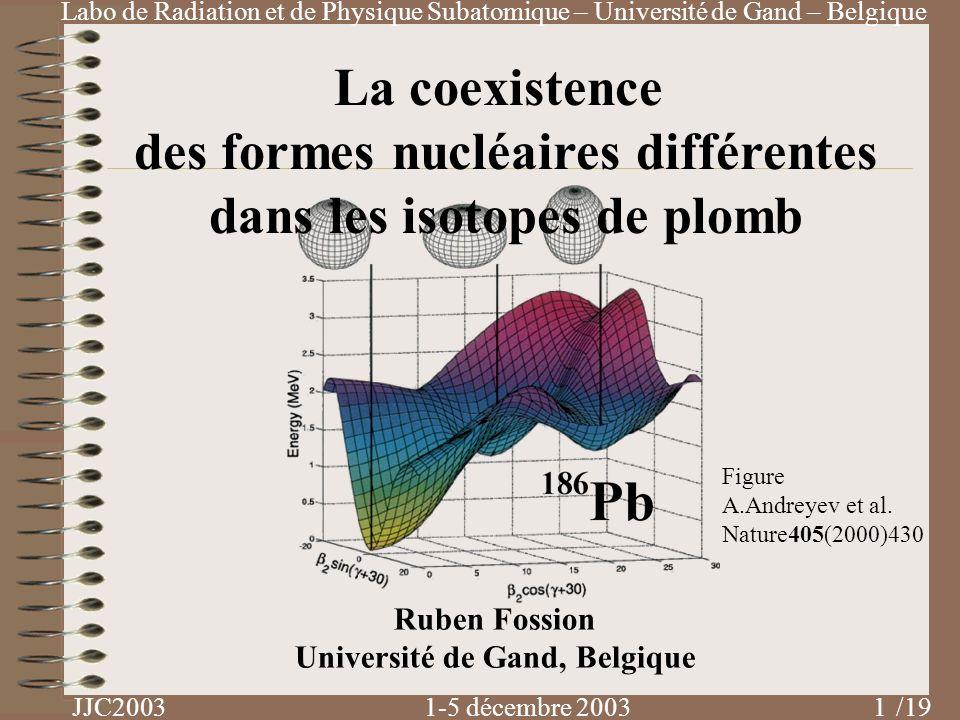 des formes nucléaires différentes dans les isotopes de plomb