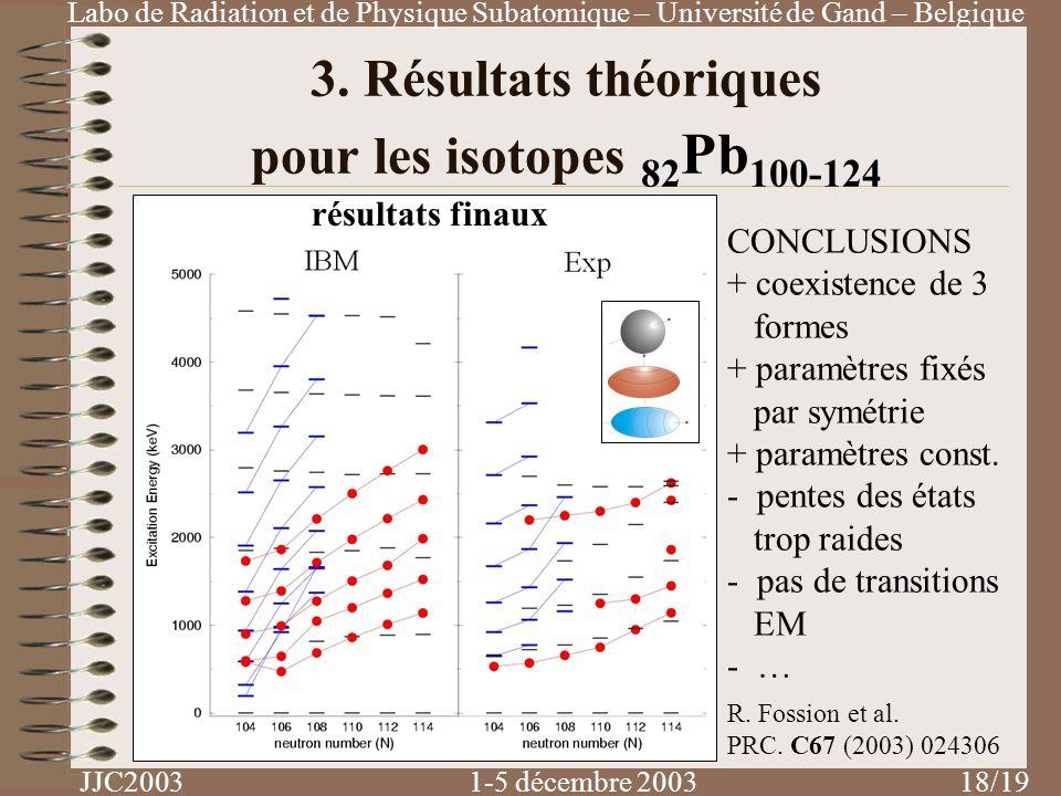 3. Résultats théoriques pour les isotopes 82Pb100-124