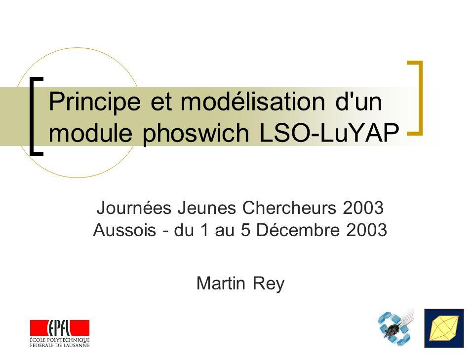 Principe et modélisation d un module phoswich LSO-LuYAP