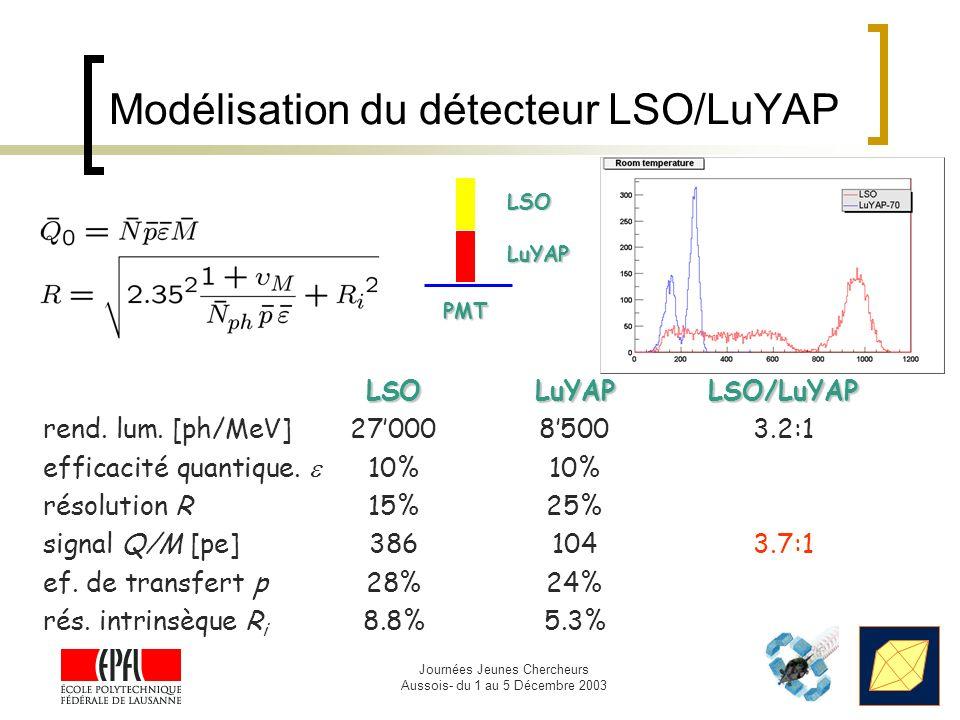 Modélisation du détecteur LSO/LuYAP