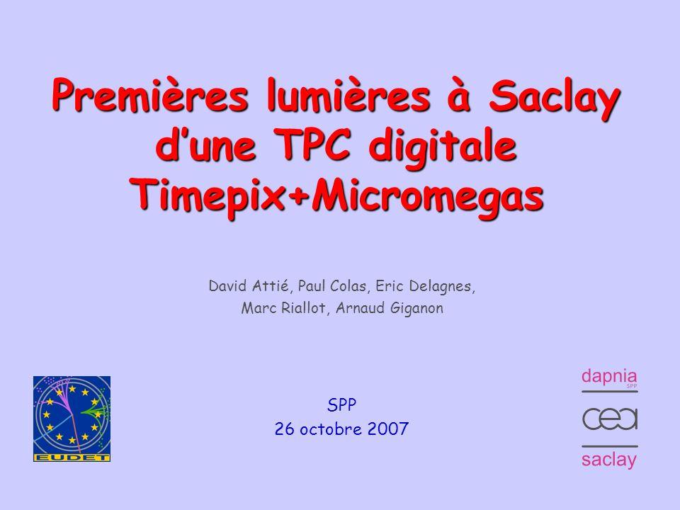 Premières lumières à Saclay d'une TPC digitale Timepix+Micromegas