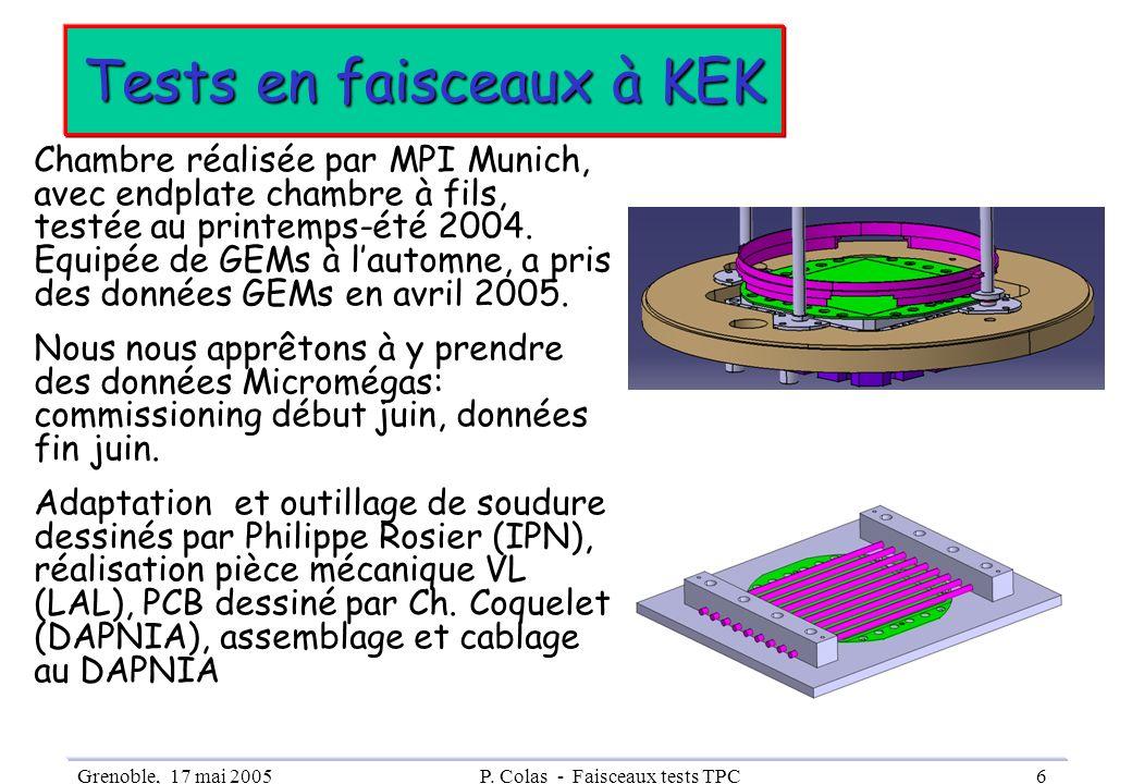 Tests en faisceaux à KEK