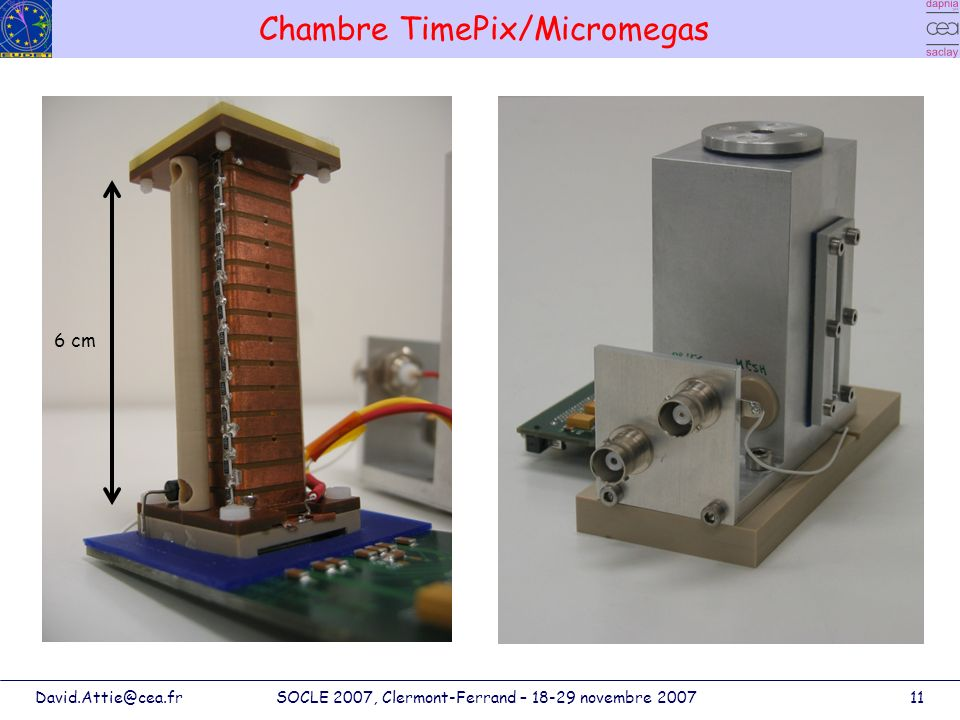 Chambre TimePix/Micromegas