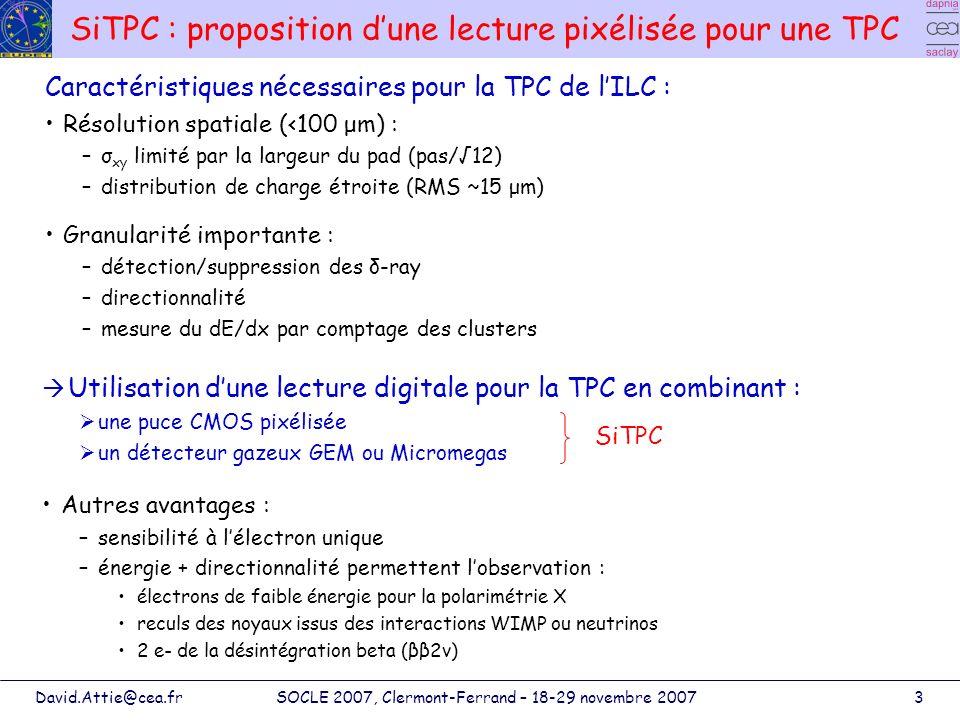 SiTPC : proposition d'une lecture pixélisée pour une TPC