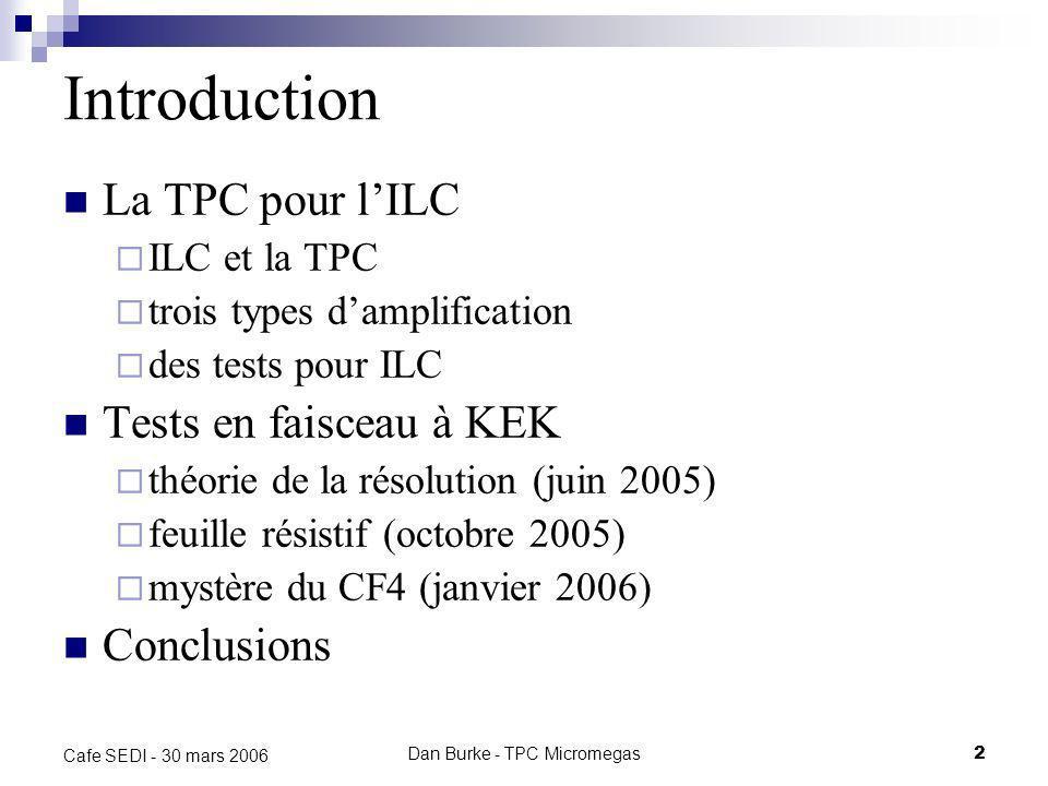 Dan Burke - TPC Micromegas