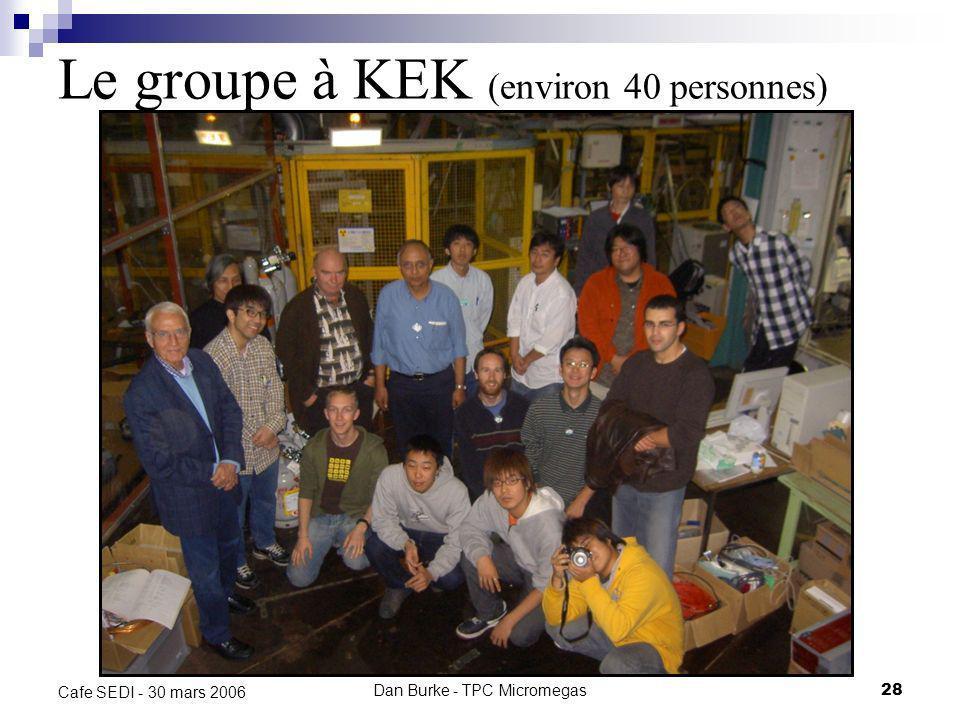 Le groupe à KEK (environ 40 personnes)