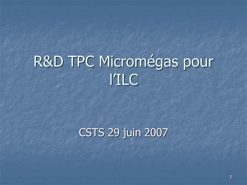 R&D TPC Micromégas pour l'ILC