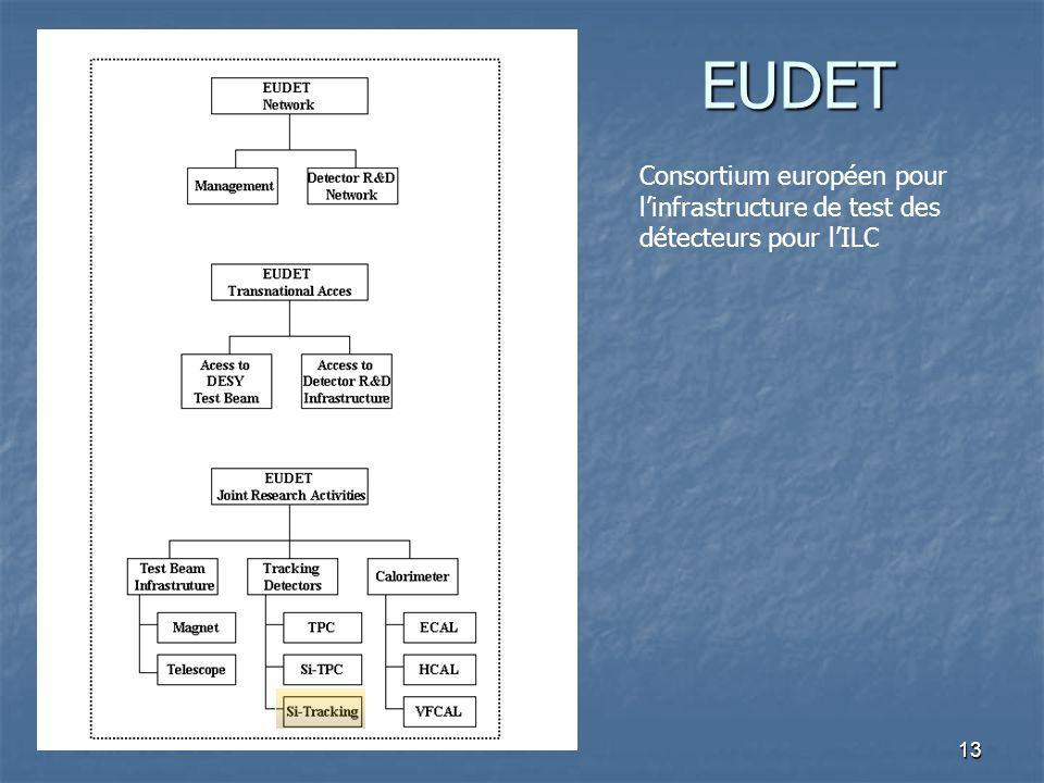 EUDET Consortium européen pour l'infrastructure de test des détecteurs pour l'ILC
