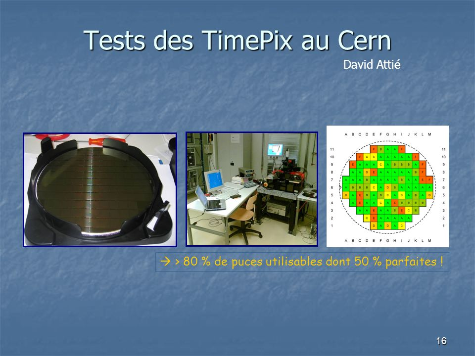 Tests des TimePix au Cern