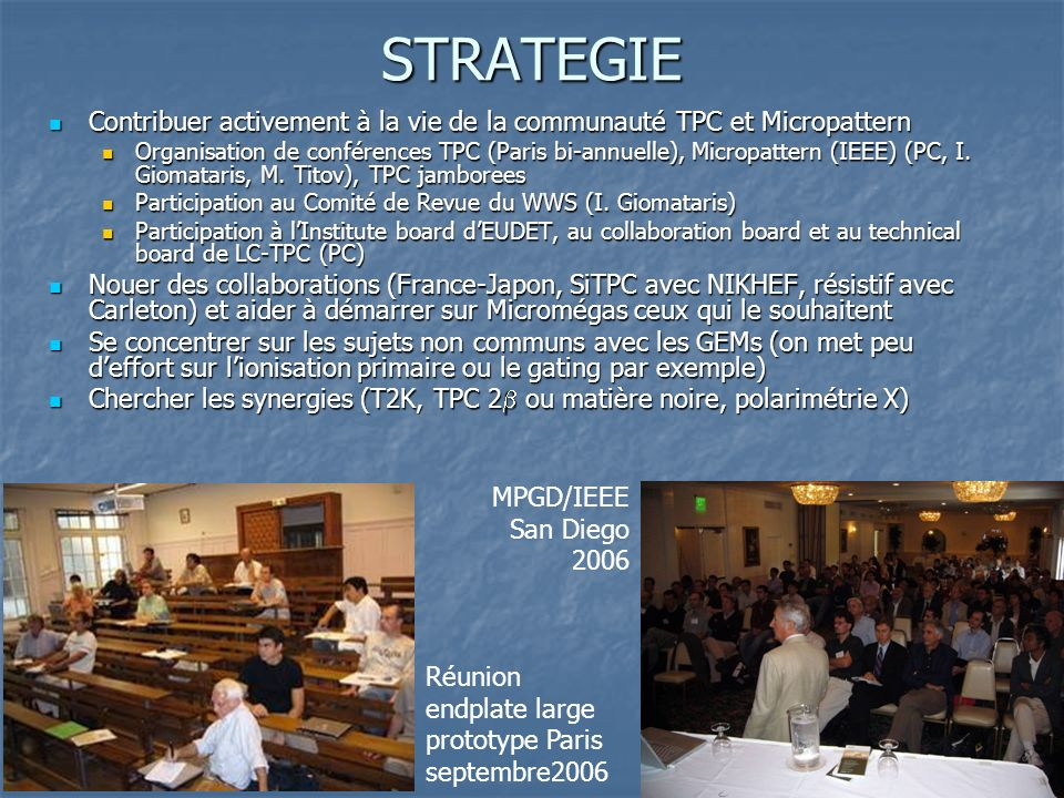 STRATEGIE Contribuer activement à la vie de la communauté TPC et Micropattern.