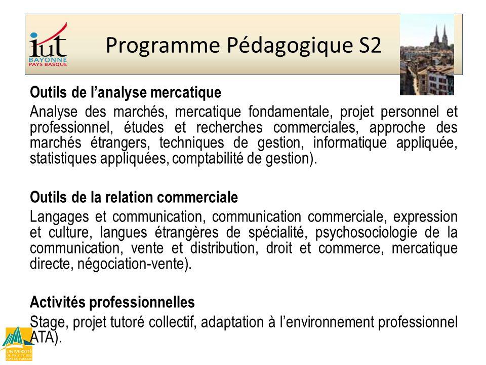 Programme Pédagogique S2