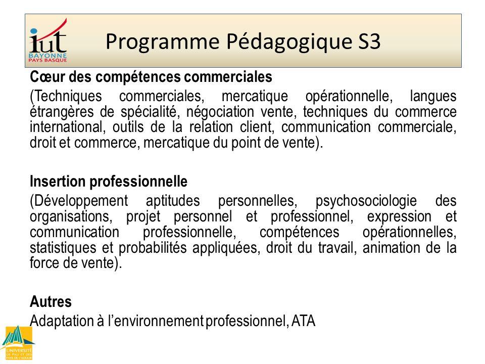 Programme Pédagogique S3