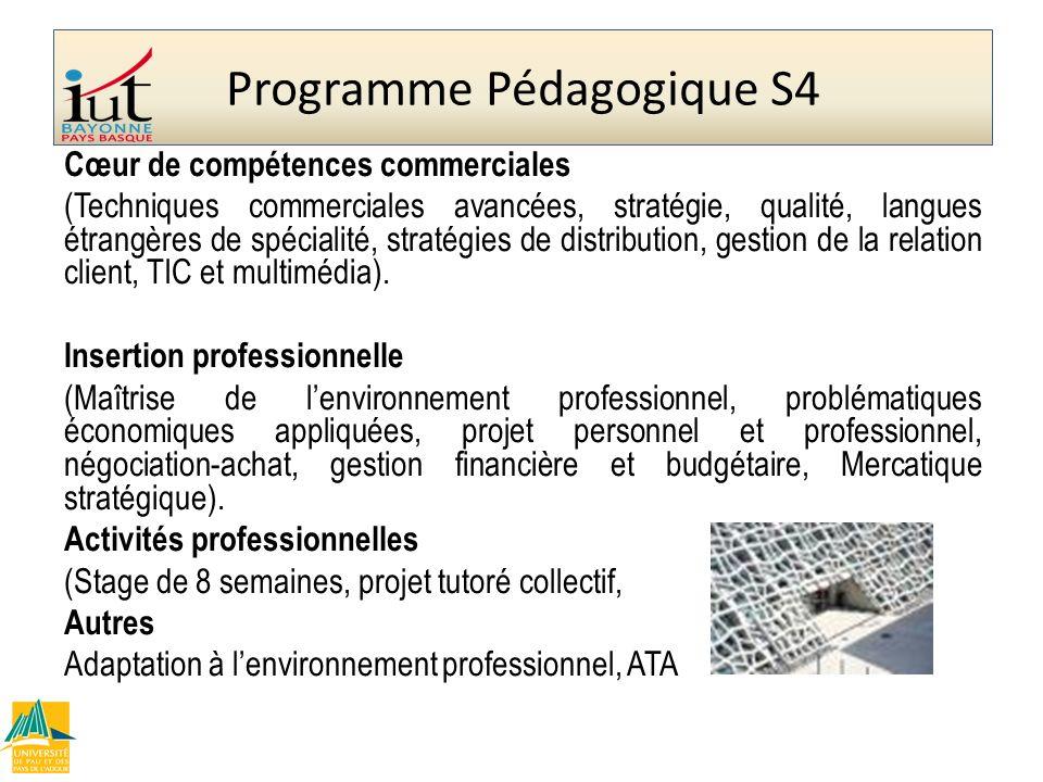 Programme Pédagogique S4