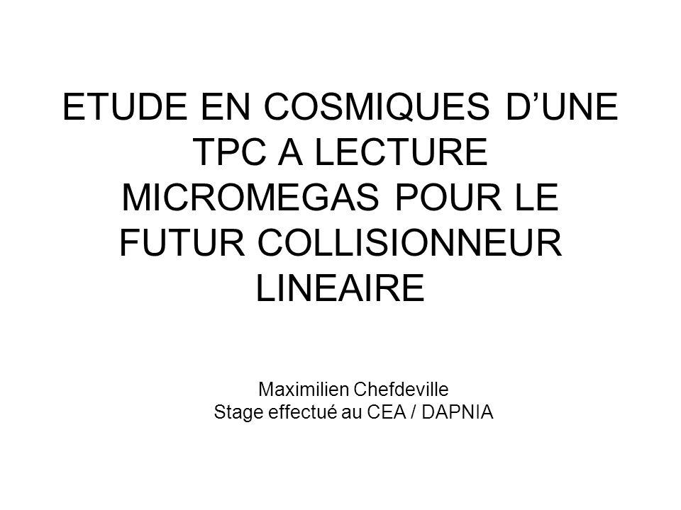 Maximilien Chefdeville Stage effectué au CEA / DAPNIA
