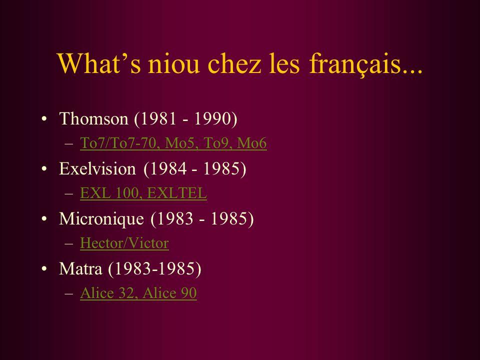 What's niou chez les français...