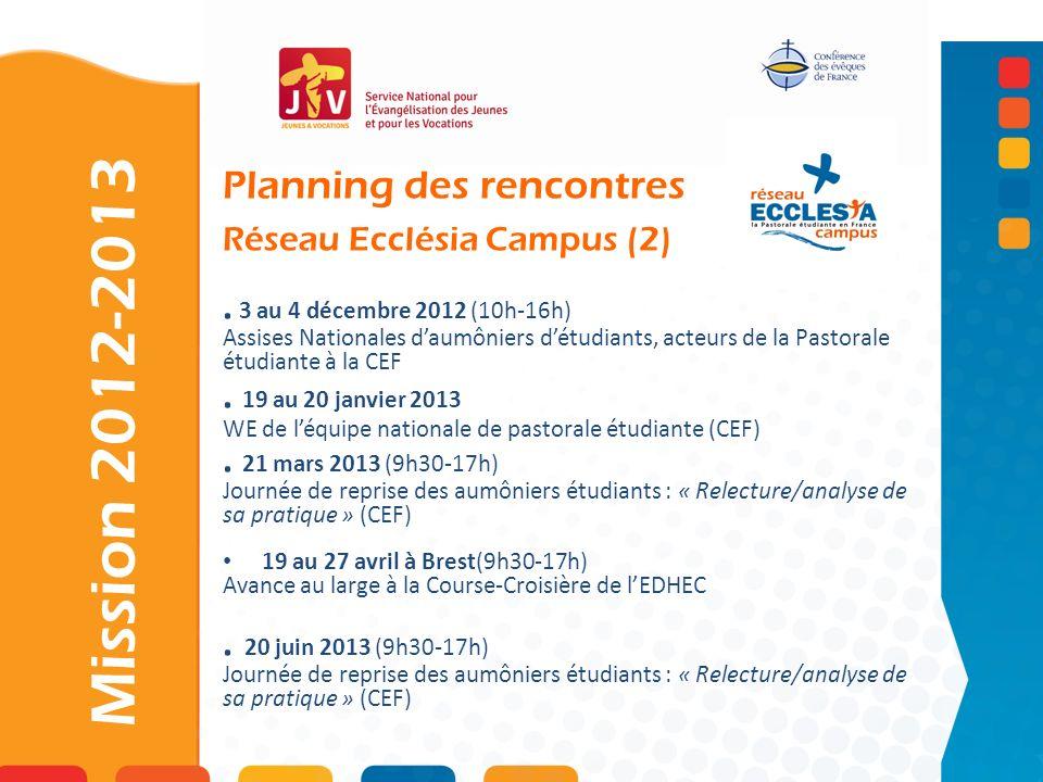 Planning des rencontres Réseau Ecclésia Campus (2)