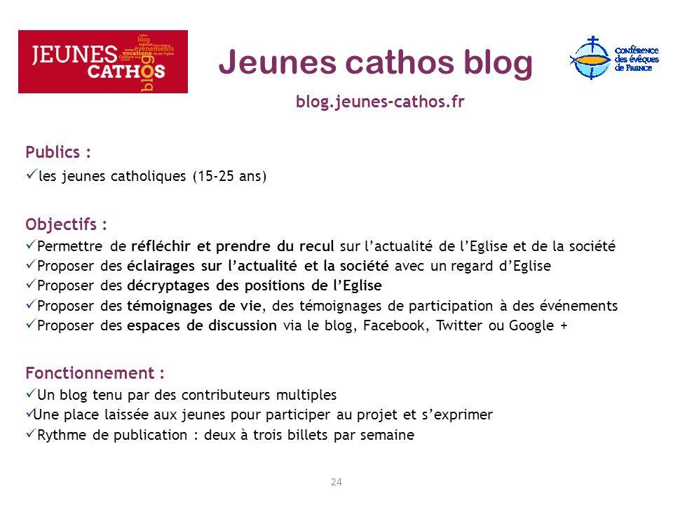 Jeunes cathos blog blog.jeunes-cathos.fr Publics :