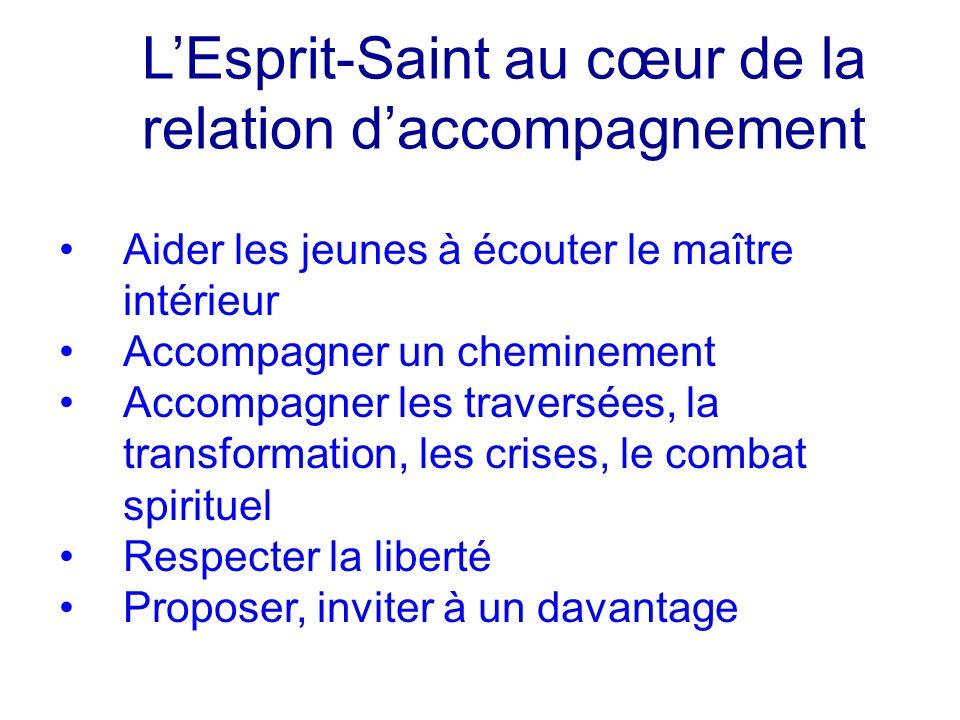 L'Esprit-Saint au cœur de la relation d'accompagnement