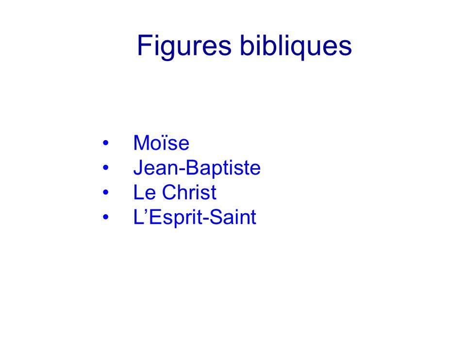 Figures bibliques Moïse Jean-Baptiste Le Christ L'Esprit-Saint