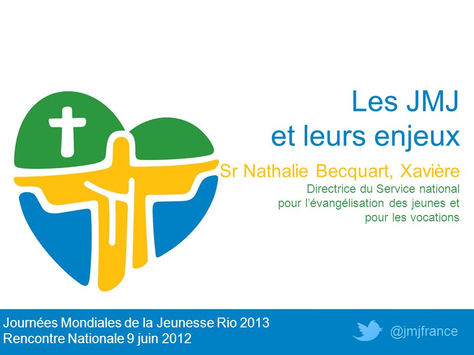 Les JMJ et leurs enjeux Sr Nathalie Becquart, Xavière