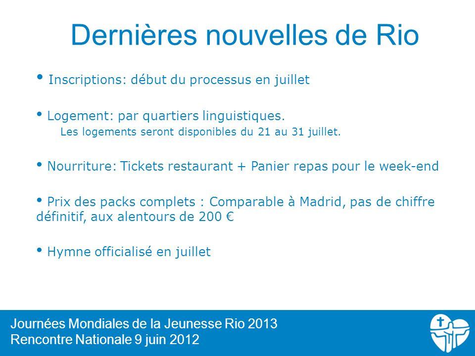 Dernières nouvelles de Rio