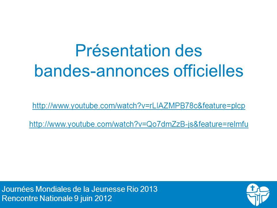 Présentation des bandes-annonces officielles http://www. youtube