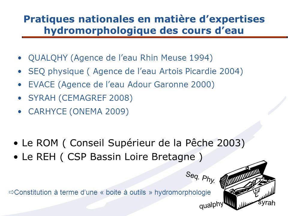 Le ROM ( Conseil Supérieur de la Pêche 2003)