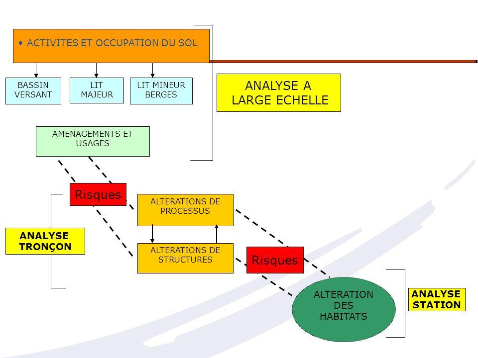 ANALYSE A LARGE ECHELLE Risques Risques ACTIVITES ET OCCUPATION DU SOL