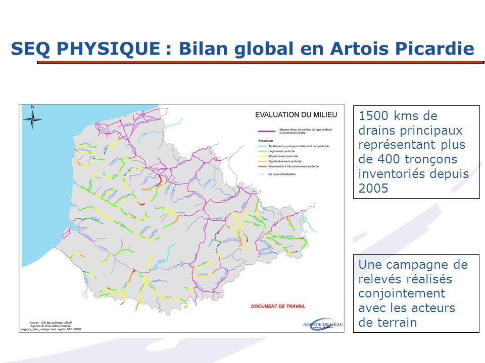 SEQ PHYSIQUE : Bilan global en Artois Picardie