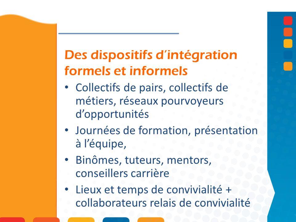 Des dispositifs d'intégration formels et informels