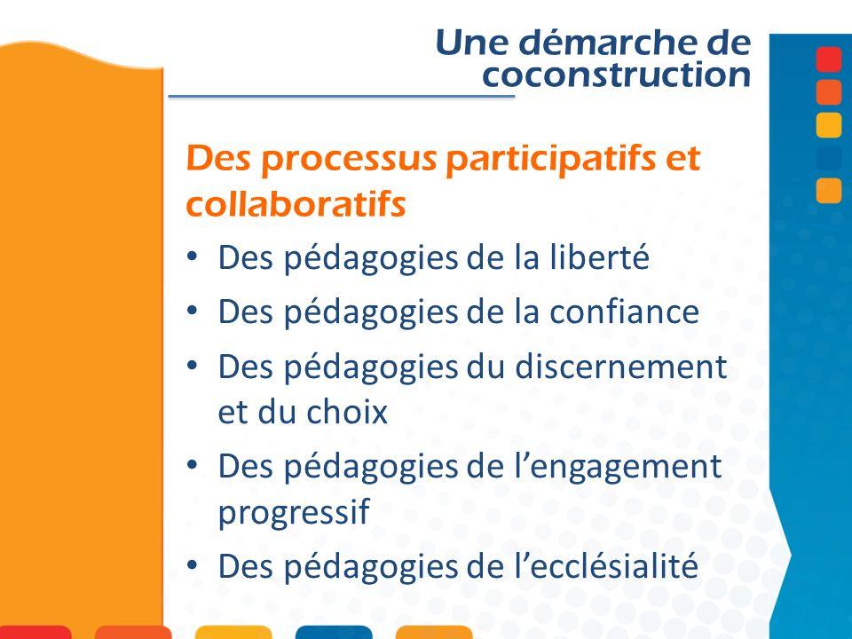 Des processus participatifs et collaboratifs