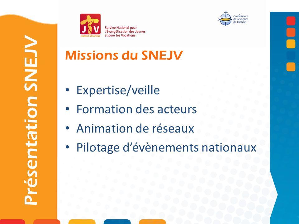 Présentation SNEJV Missions du SNEJV Expertise/veille