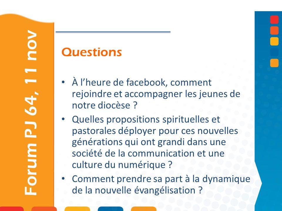 Questions À l'heure de facebook, comment rejoindre et accompagner les jeunes de notre diocèse