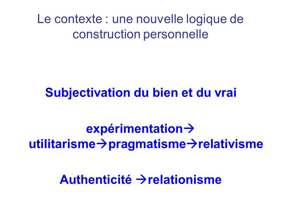 Le contexte : une nouvelle logique de construction personnelle