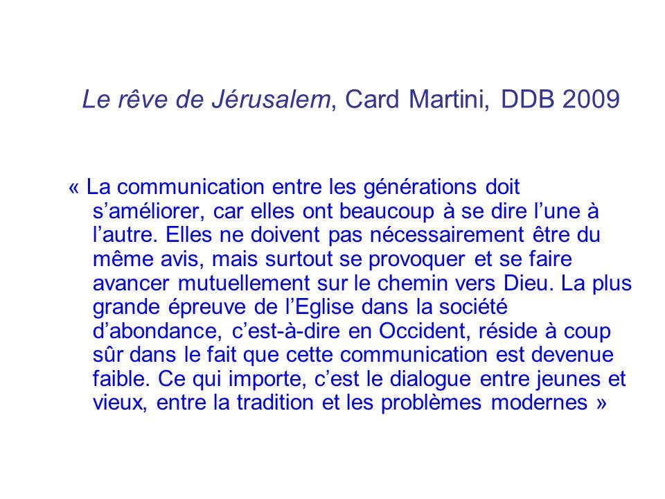 Le rêve de Jérusalem, Card Martini, DDB 2009