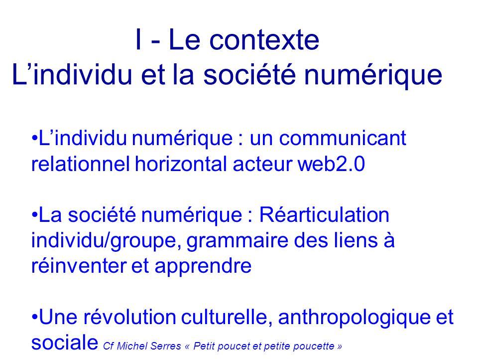 L'individu et la société numérique