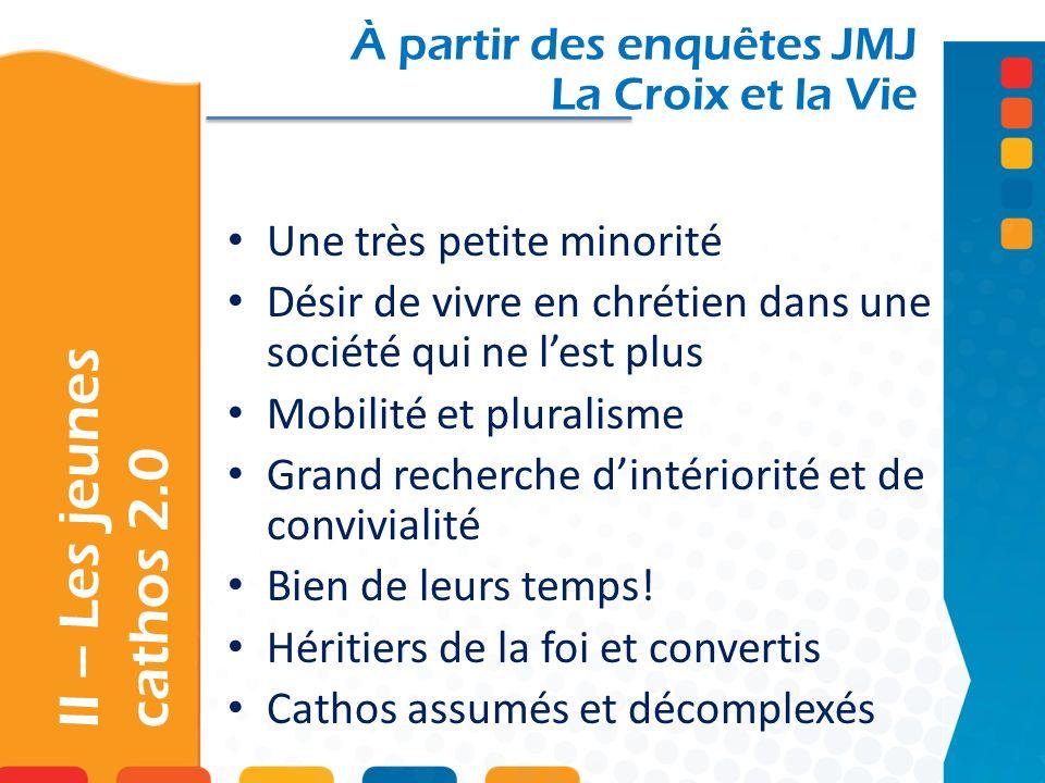 II – Les jeunes cathos 2.0 À partir des enquêtes JMJ